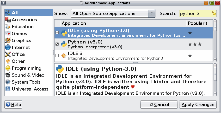 download idle python